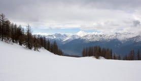 Winter mountains. Blue sky snow Royalty Free Stock Photos