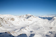 Winter mountains in Austrian Alps Royalty Free Stock Photo