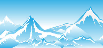 Winter mountains Background Stock Images
