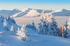 Winter in mountains Royalty Free Stock Image