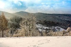 Winter in mountains Stock Photo