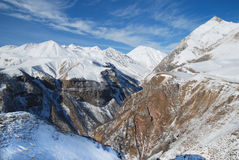 Winter mountains. Big winter mountains and the blue sky Stock Image