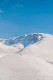 Winter mountains on bright winter day Royalty Free Stock Photo
