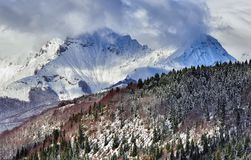 Winter mountains. Korab, Macedonia Royalty Free Stock Photos
