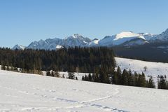 Beautiful landscape in Tatra mountains Royalty Free Stock Photography