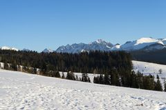Beautiful landscape in Tatra mountains Royalty Free Stock Images