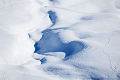 Winter mountains cowered with curving ski traces Royalty Free Stock Photography