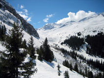 Winter Mountains extreme. Snow landscape cold terrain Royalty Free Stock Images
