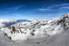 Winter mountains in France. Winter mountains in Val Thorens, France royalty free stock photography