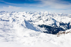 Winter mountains full of snow Stock Images
