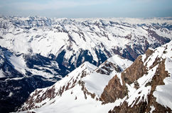 Winter mountains full of snow royalty free stock images
