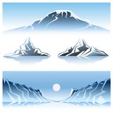 Winter Mountains Graphic Design Royalty Free Stock Photo