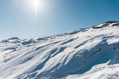Winter mountains in Gusar region of Azerbaijan Stock Images