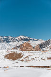 Winter mountains in Gusar region of Azerbaijan Stock Photo