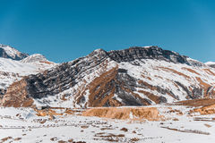 Winter mountains in Gusar region of Azerbaijan Royalty Free Stock Photography