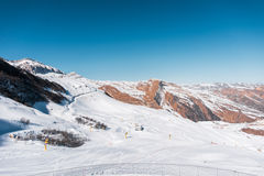 Winter mountains in Gusar region of Azerbaijan Stock Photos