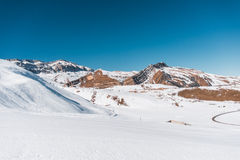 Winter mountains in Gusar region of Azerbaijan Stock Image