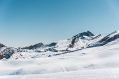 Winter mountains in Gusar region of Azerbaijan Stock Photography