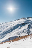 Winter mountains in Gusar region of Azerbaijan Royalty Free Stock Image