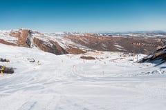 Winter mountains in Gusar region of Azerbaijan Royalty Free Stock Photos