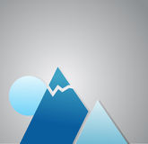 Winter mountains illustration design Royalty Free Stock Photos