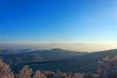 Winter mountains landscape Royalty Free Stock Images
