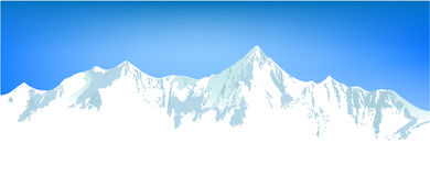 Winter mountains landscape stock illustration