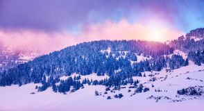 Winter mountains landscape Royalty Free Stock Photo