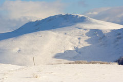 Winter mountains landscape, Bieszczady National Park, Poland Royalty Free Stock Photo