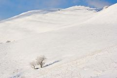 Winter mountains landscape, Bieszczady National Park, Poland Royalty Free Stock Photos