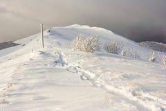 Winter mountains landscape, Bieszczady National Park, Poland Stock Image