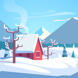 Winter mountains landscape scenic Royalty Free Stock Photo