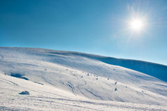 Winter mountains landscape Stock Images