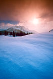 Winter mountains snow sun landscape background royalty free stock photos