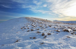Winter mountains landscape at sunset - Slovakia - Fatra Stock Photography