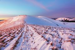 Winter mountains landscape at sunset - Slovakia - Fatra Royalty Free Stock Image