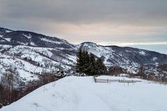 Winter mountains landscape Stock Photos