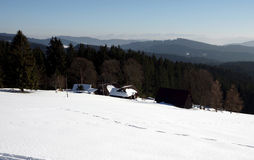 Winter in the mountains Moravian-Silesian Region Stock Photo