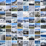 Winter mountains mosaique Stock Image