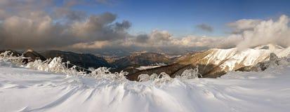 Winter mountains panorama stock photography