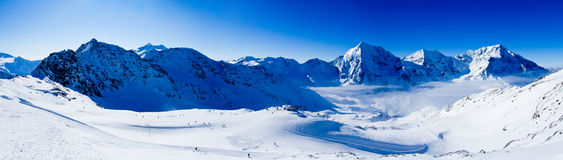 Winter mountains, panorama Stock Image