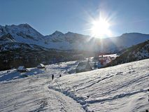 Winter in the mountains. Poland - winter in the Tatras (Polish mountain range Royalty Free Stock Photo