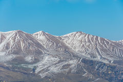 Winter mountains in Qusar region of Azerbaijan Royalty Free Stock Photo