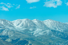 Winter mountains in Qusar region of Azerbaijan Stock Images