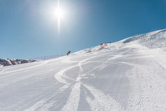 Winter mountains at ski resort Royalty Free Stock Photo