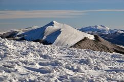 Winter Mountains. Snow on mountains summits in Poland royalty free stock photography