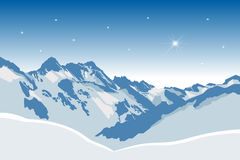 Winter mountains Stock Photos