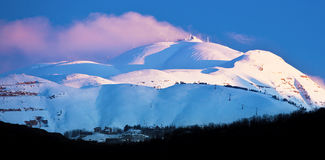 Winter mountains snowy landscape Royalty Free Stock Images