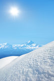 Winter mountains on a sunny day Stock Photos
