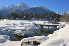 Winter in mountains stock photos